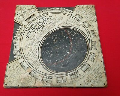Rare Antique Copyrighted 1906 The Barritt Serviss Star and Planet Finder