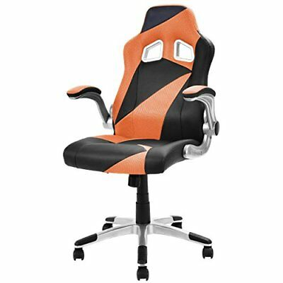 Giantex Executive Racing Chair PU Leather Gaming Office Computer Desk Orange