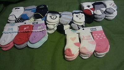 Socks Baby Boy & Girl Newborn- 6 Months 6- Pack   Child of Mine By Carter's