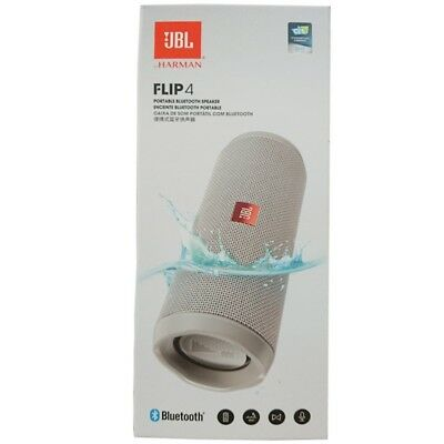 JBL Flip 4 grau Wireless Portable Stereo Speaker wasserdicht Bluetooth