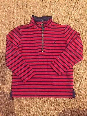 Joules Boys Sweater Pullover Jumper Half Zip 4,5, 6y VGUC