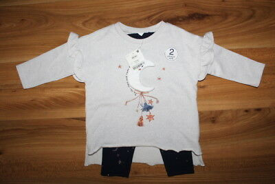 NEXT girls MOON STAR outfit top leggings 9-12 months NEW *I'll combine postage*
