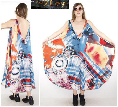 JAYLEY DRESS ultra draped SILK + CASHMERE patchworked quilt SHAGGY American West