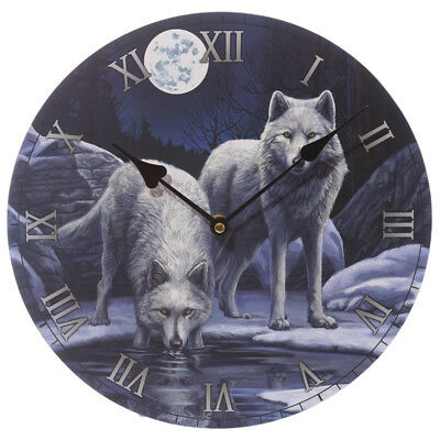 Lisa Parker Fantasy Wolf Warriors of Winter picture clock