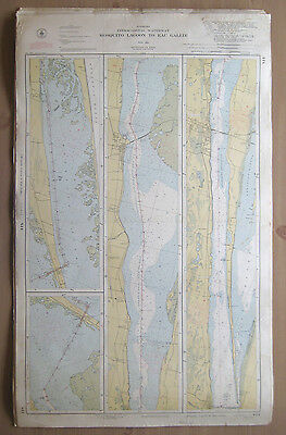 "Vtg 1951 C&GS Nautical CHART #844 INTRACOASTAL WATERWAY FL 24"" x 38.5"""