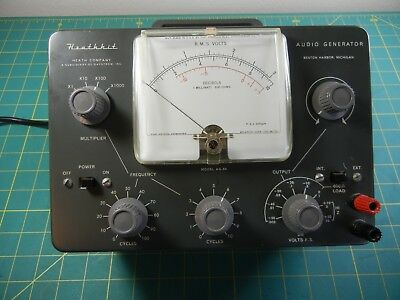 Heathkit AG-9A AF Audio Signal Generator, tests good excellent condition NR