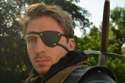 Metal gear solid V snake eye patch made of thick leather, cosplay, pirate, LARP