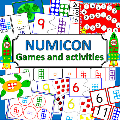 NUMICON style games and activities Maths resources TO PRINT- Number shapes