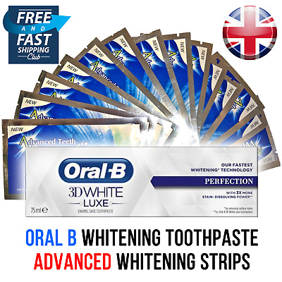 Advanced Teeth Whitening Strips - Oral B Toothpaste / 2-28 Day Supply