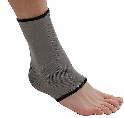 Actesso Bamboo Ankle Support Sleeve for Football Sports Injury Sprain Strain Gym