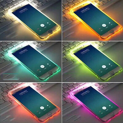 LED Flash Light Up Soft TPU Remind Incoming Call Cover Case For iPhone XS 8 6 7