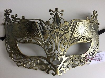 masquerade masks, Stag, Hen party, prom, fancy dress, Brushed Gold Filigree