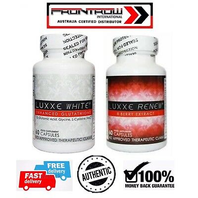 1 LUXXE WHITE SKIN WHITENING 60's And 1 LUXXE RENEW 8 BERRY EXTRACT 60's