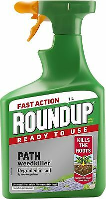 GB Seller Roundup Fast Action Drive Patio Path Weed Killer Spray 1L Bottle