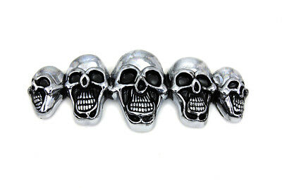 Pewter 5 Skull Emblem for All Models Harley - Chopper