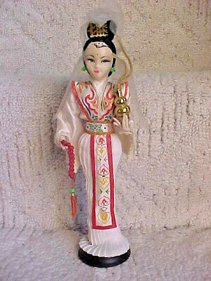"""Chinese Girl/Woman Figure 10 1/2"""" tall Taiwan On Stand Vintage Looking"""
