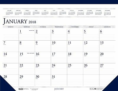 House Of Doolittle 2018 Monthly Desk Pad Calendar, Classic, 22 X 17 Inches, -