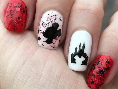 Disney Mickey Mouse Nail Stencils 48 Vinyls Per Sheet & FREE US Shipping!