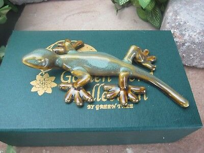 Golden Pond Collection - Ceramic Gecko / Handmade craft/ Perfect gift/ Fine art