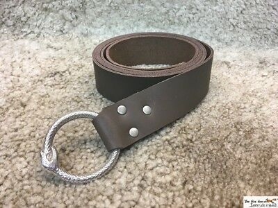 Medieval long belt with highly detailed snake ring. Very high quality! LARP