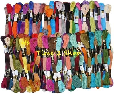 75 Anchor Solid Stitch Skeins Cotton Embroidery  Floss Thread Premium Quality
