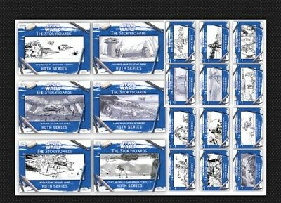18 Card Set-Hoth: The Storyboards-White-Topps Star Wars Card Trader