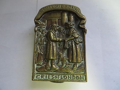 """New Love Songs Cries of London"" Brass Antique English Door Knocker"