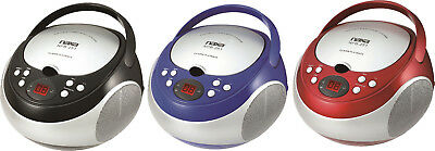 Naxa Portable CD Player with AM/FM Stereo Speaker Boombox Radio