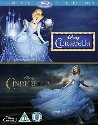 Cinderella (1950) and Cinderella (2015 Live Action) Double Pack Blu-Ray NEW