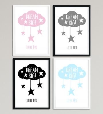 Dream Big Little One A4 Print Nursery Print Children's Print Quote Kids Decor