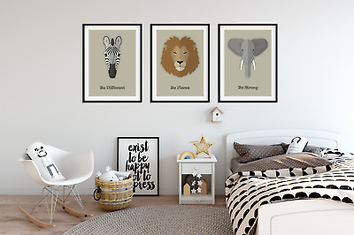 African Animal Prints  /Pictures for Nursery / Boys / Girls Bedroom