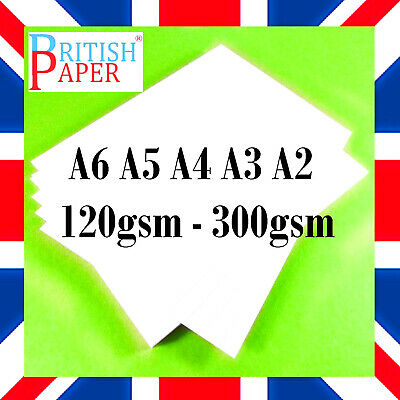 White Card Blank Printer Copier Office Paper Artist Cardboard A6 A5 A4 A3 A2 Gsm
