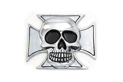 Pewter Maltese Cross with Skull Emblem for All Models Harley - Chopper