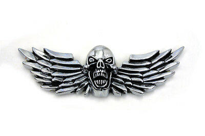Pewter Winged Skull Emblem for All Models Harley - Chopper