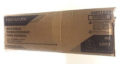 Case of 48 Highmark Professional 1-Ply Bath Tissue Roll 4.1in X 36in 1000 sheet