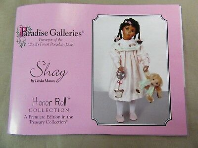 """24"""" Paradise Galleries Shay by Linda Mason Porcelain Doll Treasury Collection"""