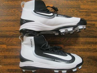 online retailer bdf80 a1162 Nike Huarache 2KFilth Elite Mid MCS Molded Baseball Cleats Various White  Black