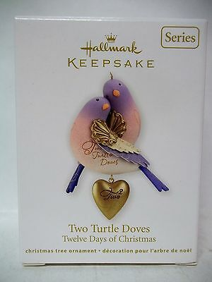 Hallmark Twelve 12 Days of Christmas 2012 Two Turtle Doves 2nd Ornament
