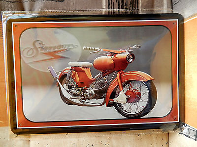 simson oldtimer moped sperber ddr suhl schild 20 x 30. Black Bedroom Furniture Sets. Home Design Ideas