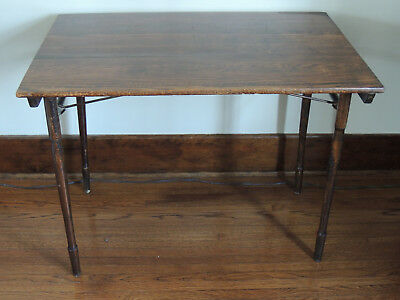 Antique Folding Sewing Table with Ruler