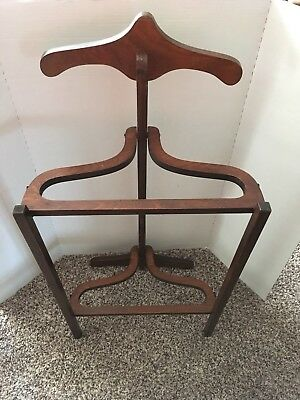 VTG ANTIQUE YOUTH FOLDING Valet Clothing Stand ATCRAFT LTD NOBBY HORSE England