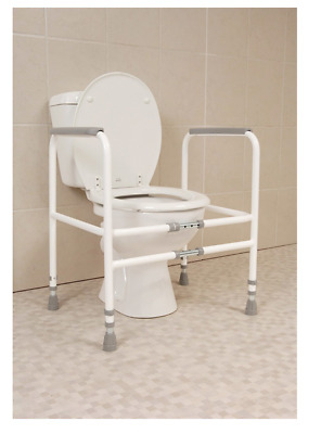 HEALTHCARE Free Standing TOILET FRAME - Width & Height Adjustable TOILET