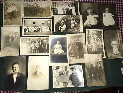 Lot of 17 Vintage Photos 1900s-1930s