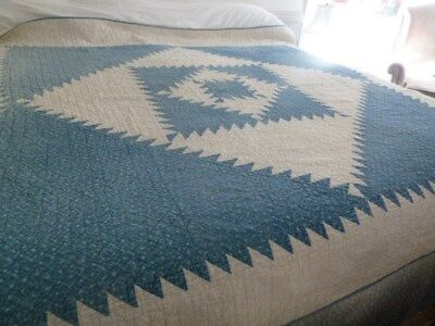 Antique  blue and white Quilt