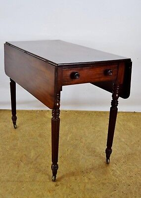 Victorian Pembroke Table, Antique 19th Century Mahogany Table, Old Furniture