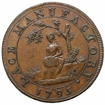 1795 Great Middlesex Muslins Irish Cloth Hose Co Halfpenny Conder Token D&H-389