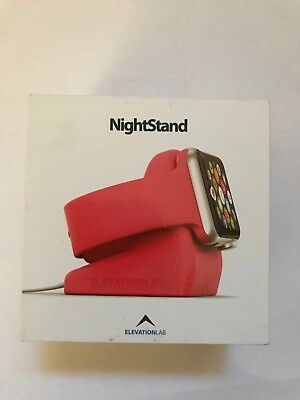 NEW Night Stand Apple Watch Elevation Lab Docking Station Charger Holder Pink