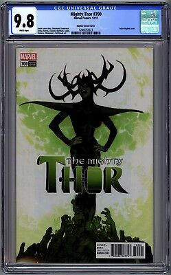 Mighty Thor #700 Cgc 9.8 Nm/mt Adam Hughes 1:100 Variant Legacy