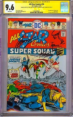 All Star Comics #58 CGC 9.6 SS X2 Sign Conway & Grell + Sketch 1st Power Girl!