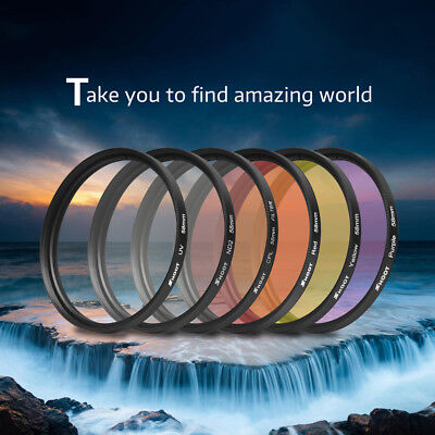 6PCS 58mm Filters Lens CPL UV ND2 + Ring For Gopro hero 5 / 6  Waterproof Shell